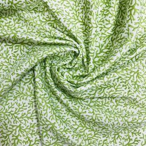 Spring Vines Fabric by Kaufman Green